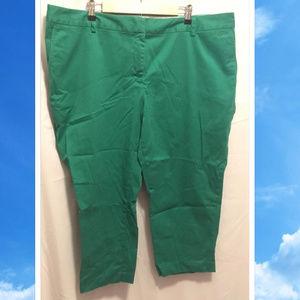 Size 22W Lands End Cropped Pants Green